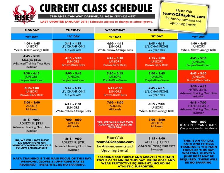 2019 class schedule copy